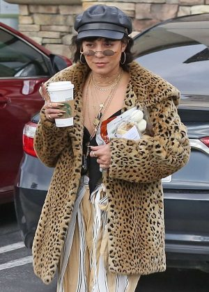 Vanessa Hudgens at Starbucks in Los Angeles