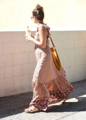 Vanessa Hudgens at Summer Dress out in Los Angeles