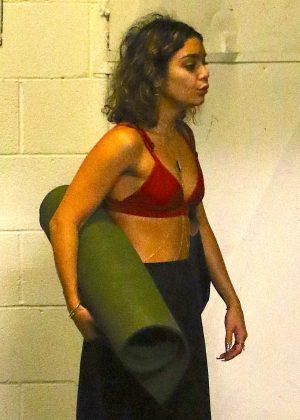 Vanessa Hudgens at Yoga Class in Studio City