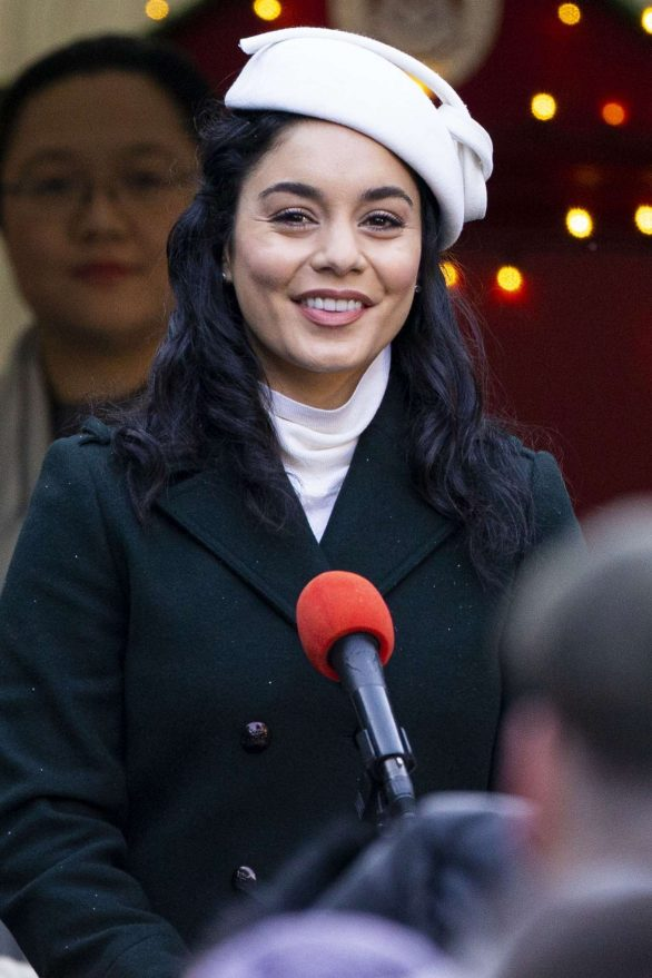 Vanessa Hudgens - Filming 'The Princess Switch, Switched Again' in Edinburgh