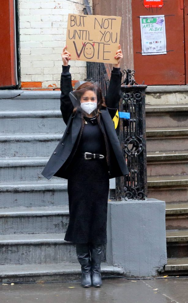 Vanessa Hudgens - Filming 'Tick, Tick...Boom!' in New York City