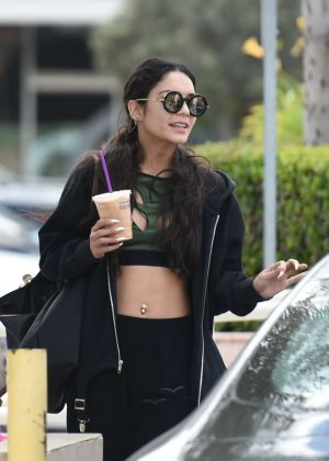 Vanessa Hudgens - Gets coffee with a friend in LA