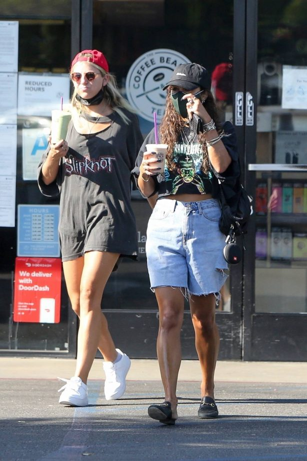 Vanessa Hudgens - Grab a cold drink while out in Los Angeles