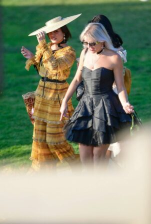 Vanessa Hudgens - has fun with BFF GG Magree in the park in Los Angeles