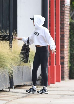 Vanessa Hudgens - Heading to the Gym in Los Angeles