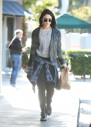 Vanessa Hudgens heading to the studio in LA