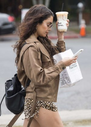 Vanessa Hudgens - Hot on street while getting coffee in Los Angeles