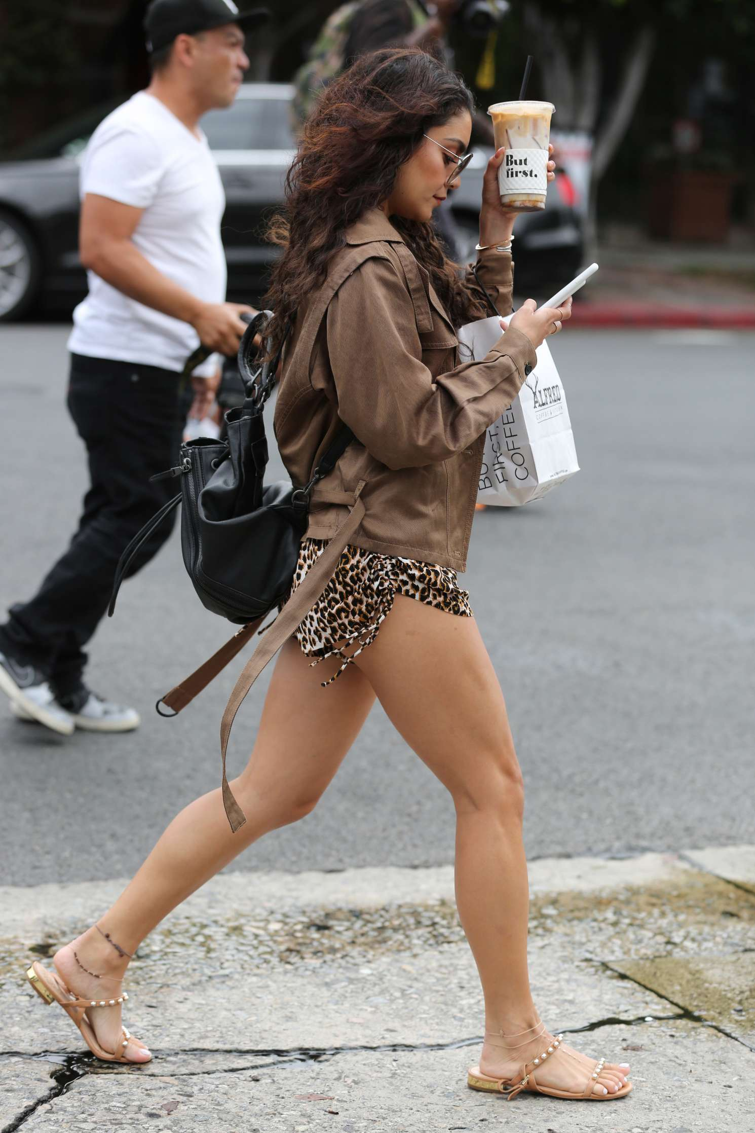 Vanessa Hudgens: Hot on street while getting coffee in Los ...