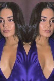 Vanessa Hudgens in a Purple Dress