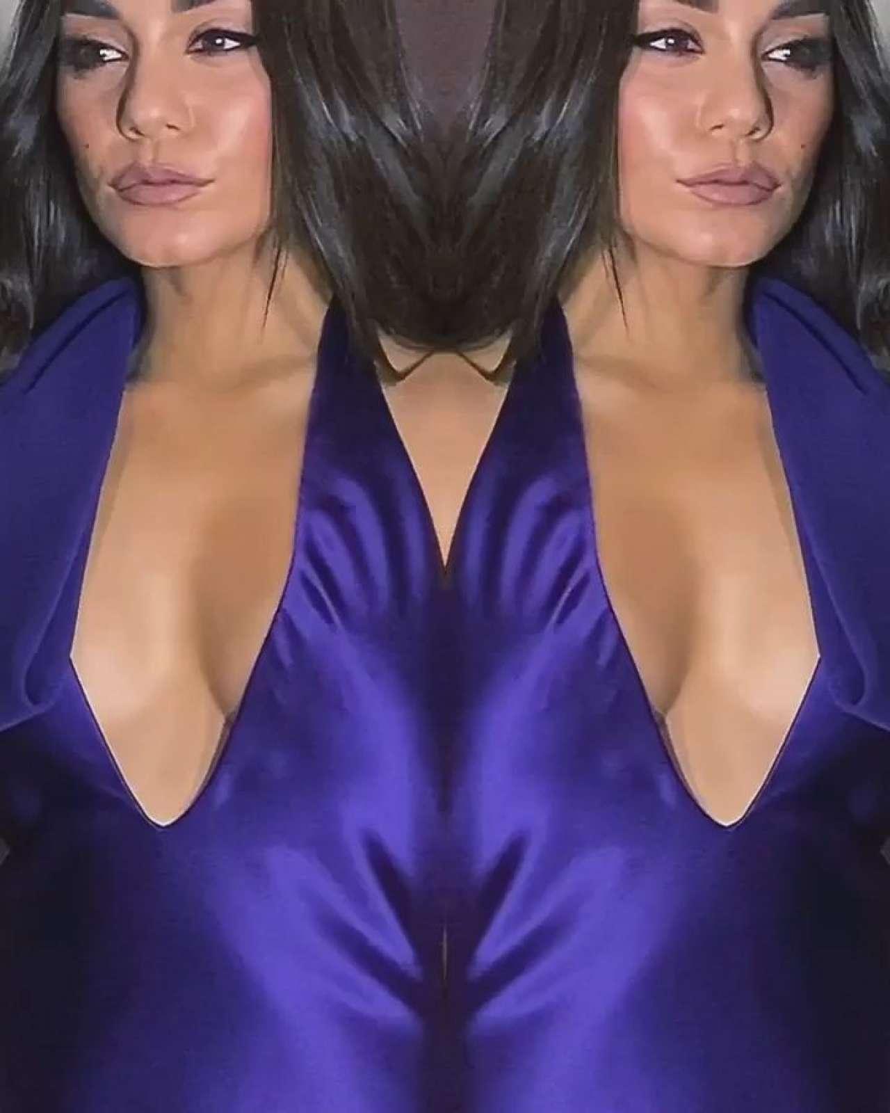 Vanessa Hudgens 2020 : Vanessa Hudgens in a Purple Dress -04