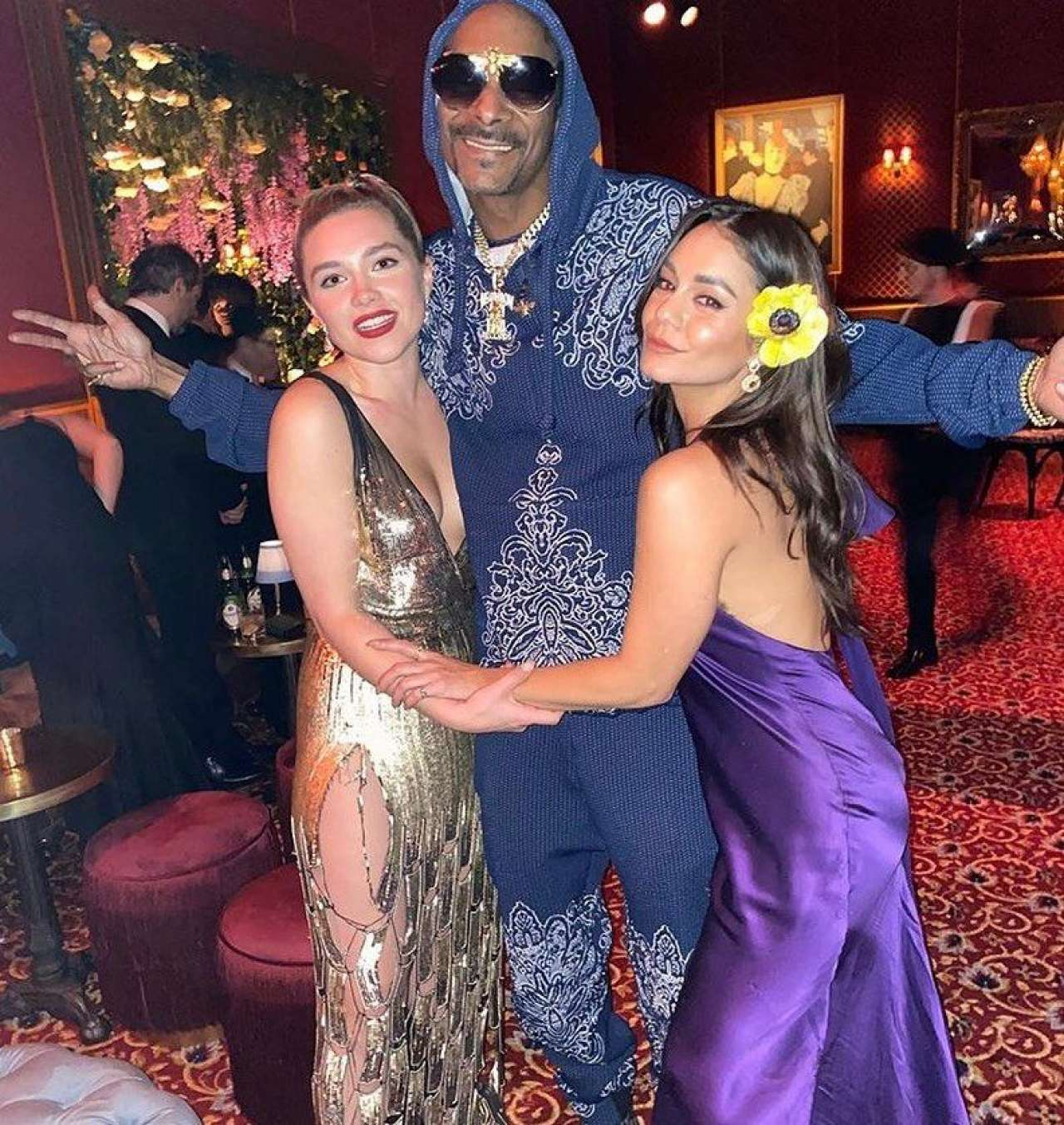 Vanessa Hudgens 2020 : Vanessa Hudgens in a Purple Dress -05