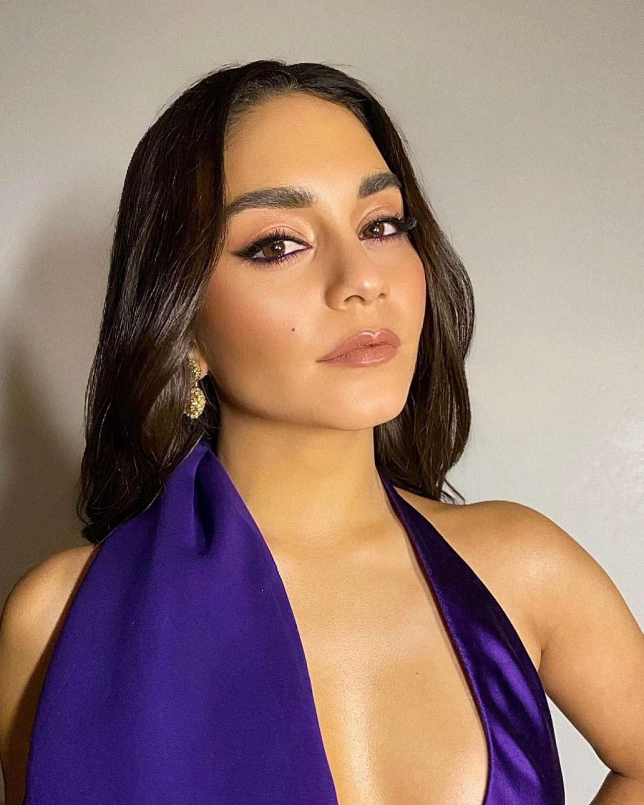 Vanessa Hudgens 2020 : Vanessa Hudgens in a Purple Dress -06