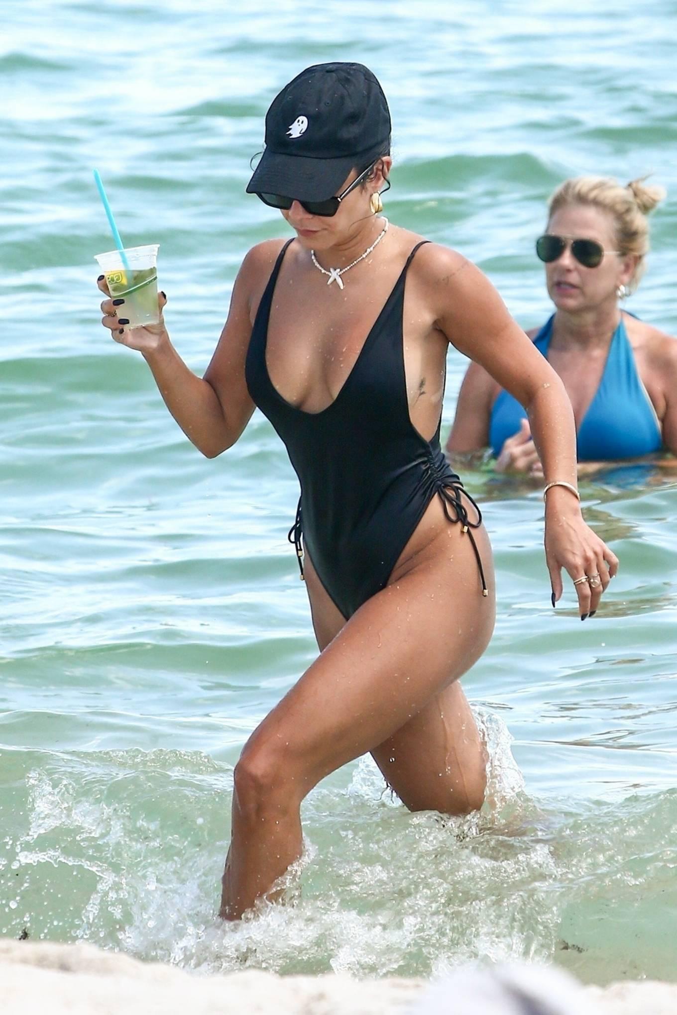 Vanessa Hudgens - In bikini on a beach in Miami