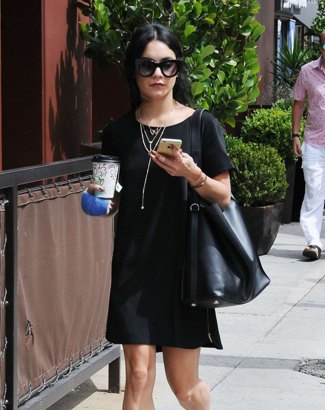 Vanessa Hudgens in Black Mini Dress -05