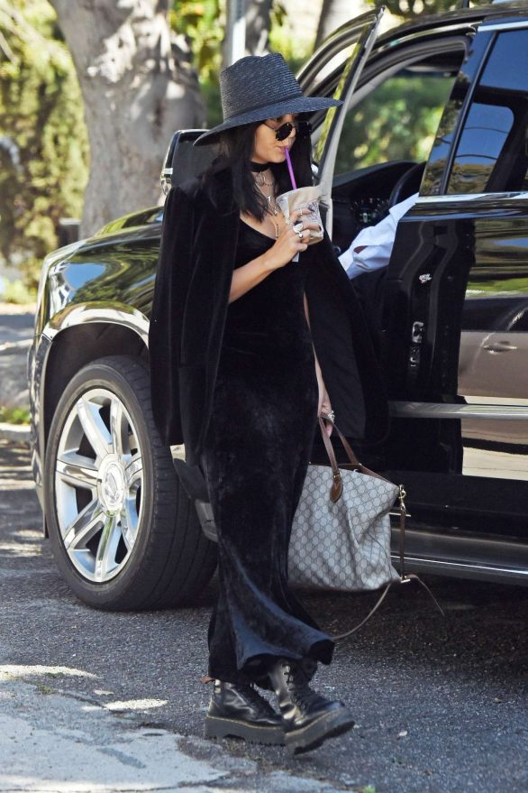 Vanessa Hudgens in Black Outfit - Out in Los Angeles