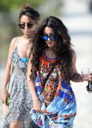Vanessa Hudgens in Blue Swimsuit 2016 -14