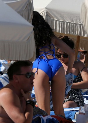 Vanessa Hudgens in Blue Swimsuit 2016 -24