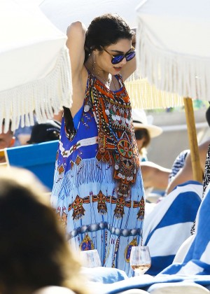 Vanessa Hudgens in Blue Swimsuit 2016 -27