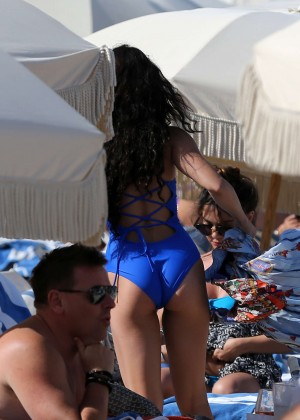 Vanessa Hudgens in Blue Swimsuit 2016 -50