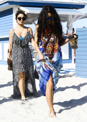 Vanessa Hudgens in Blue Swimsuit 2016 -71