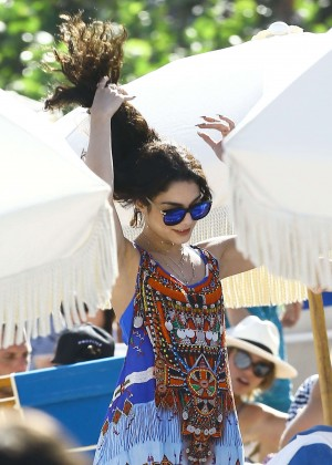 Vanessa Hudgens in Blue Swimsuit 2016 -74