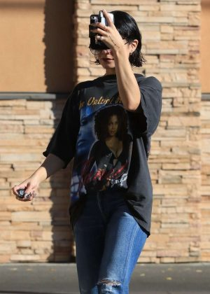 Vanessa Hudgens in Jeans at a CVS Pharmacy in Studio City