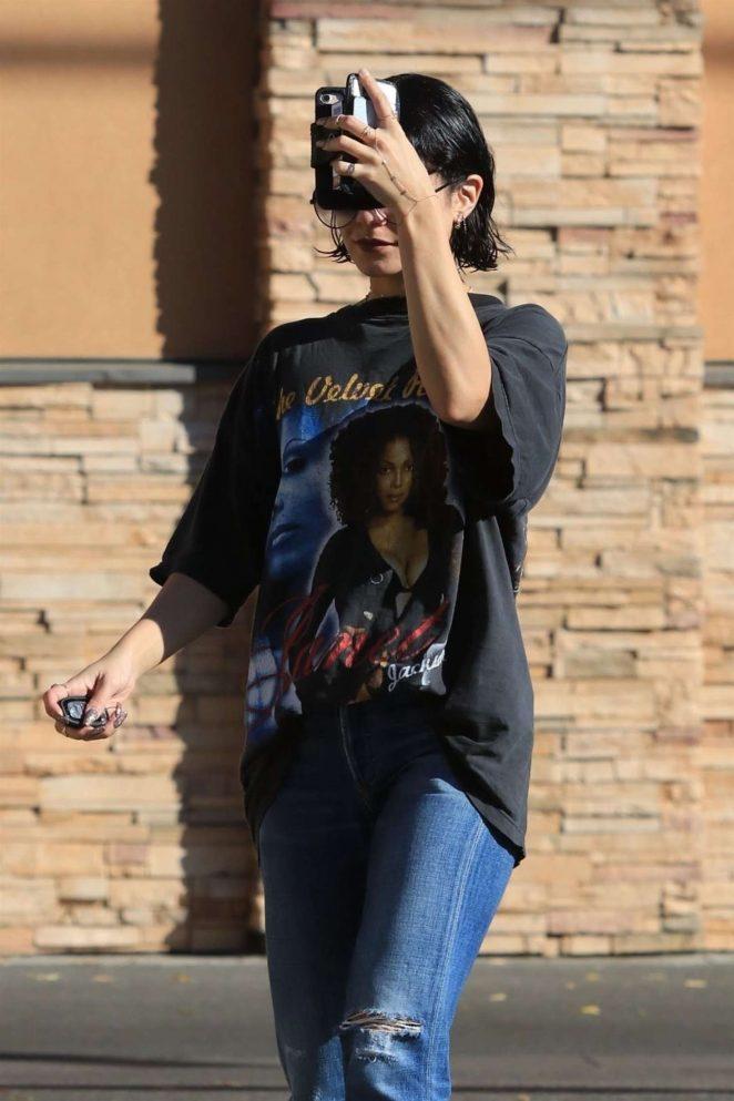 Vanessa Hudgens in Jeans at a CVS Pharmacy in Studio City