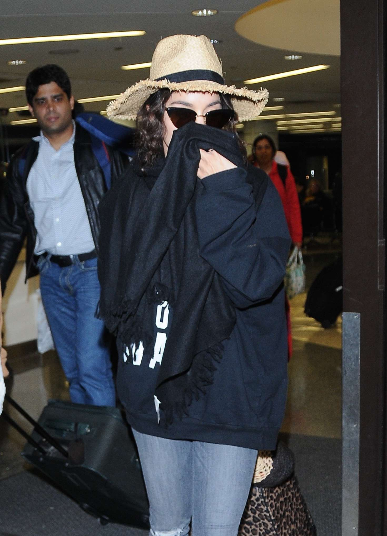 Vanessa Hudgens in Jeans at LAX airport in Los Angeles