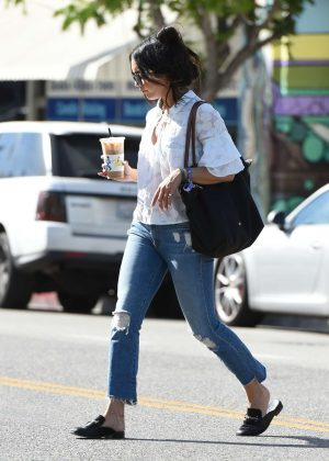 Vanessa Hudgens in Jeans out for coffee in LA