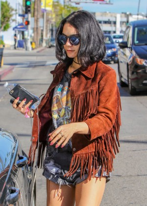 Vanessa Hudgens in Jeans Shorts -01