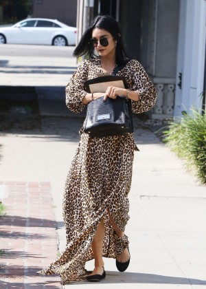 Vanessa Hudgens in Leopard Print Dress -01
