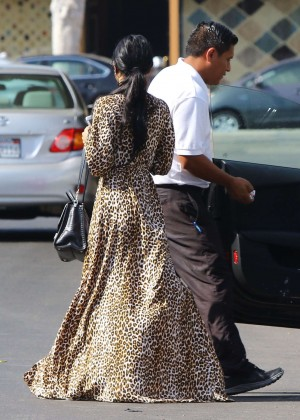 Vanessa Hudgens in Leopard Print Dress -09