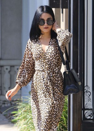 Vanessa Hudgens in Leopard Print Dress -10