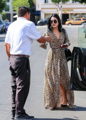Vanessa Hudgens in Leopard Print Dress -11