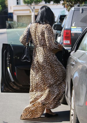 Vanessa Hudgens in Leopard Print Dress -21