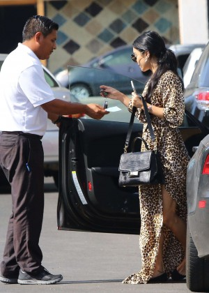 Vanessa Hudgens in Leopard Print Dress -22