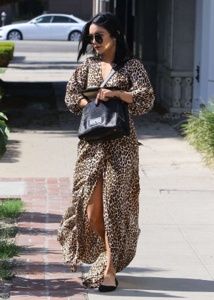 Vanessa Hudgens in Leopard Print Dress -24