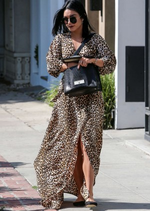 Vanessa Hudgens in Leopard Print Dress -34