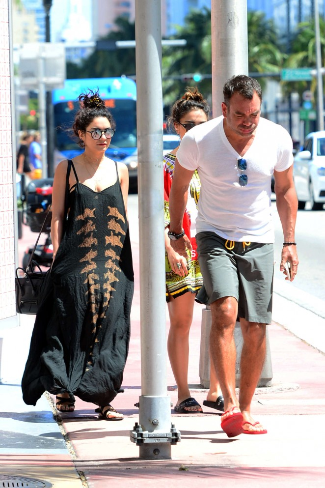 Vanessa Hudgens in Long Dress out in Miami