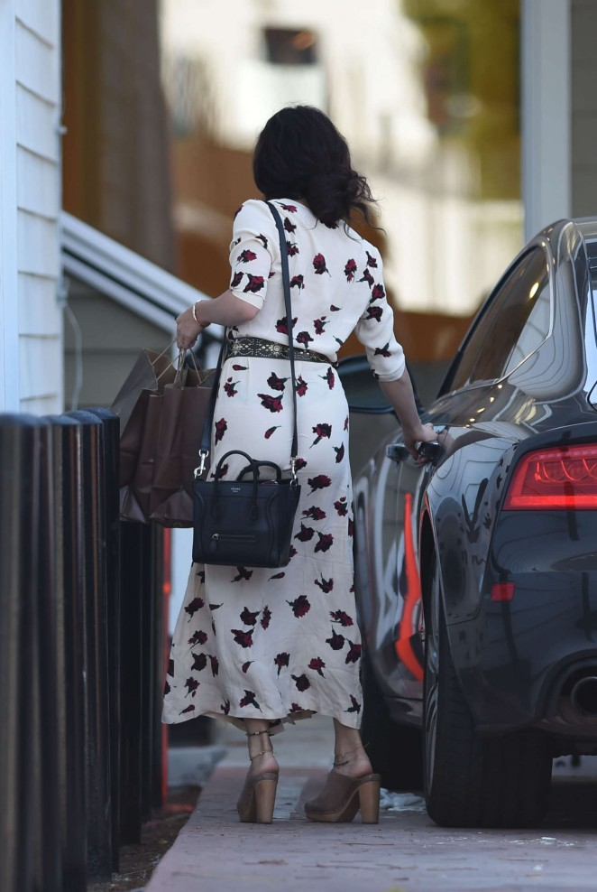 Vanessa Hudgens in Long Dress out shopping in Los Angels