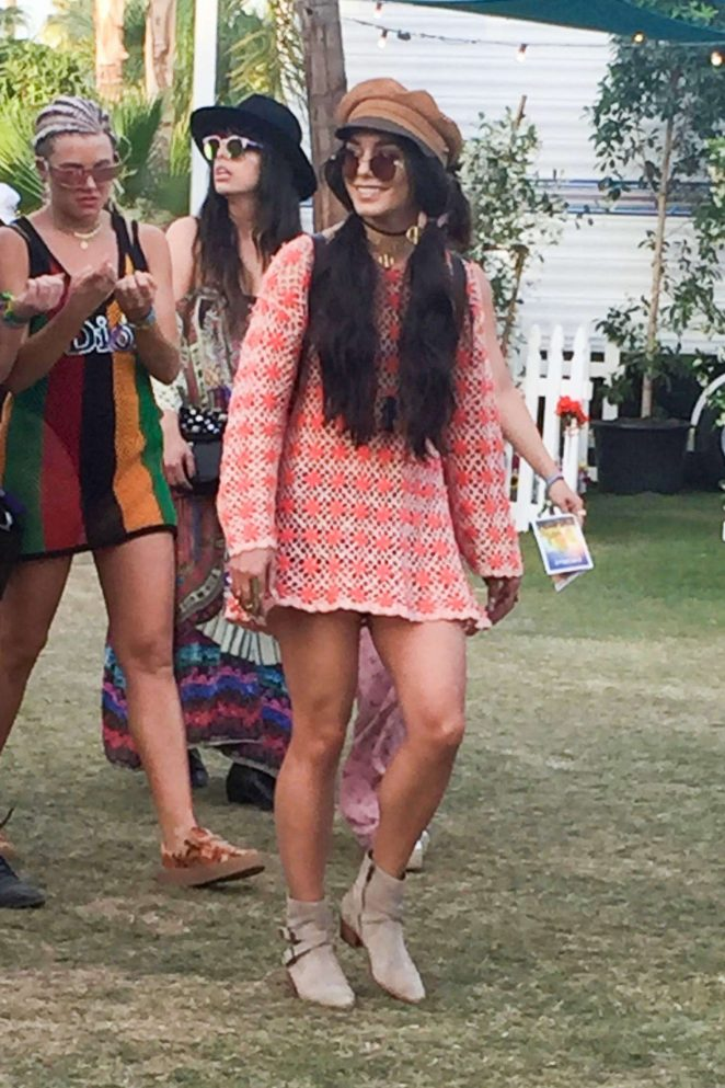 Vanessa Hudgens in Mini Dress 2017 Coachella -04