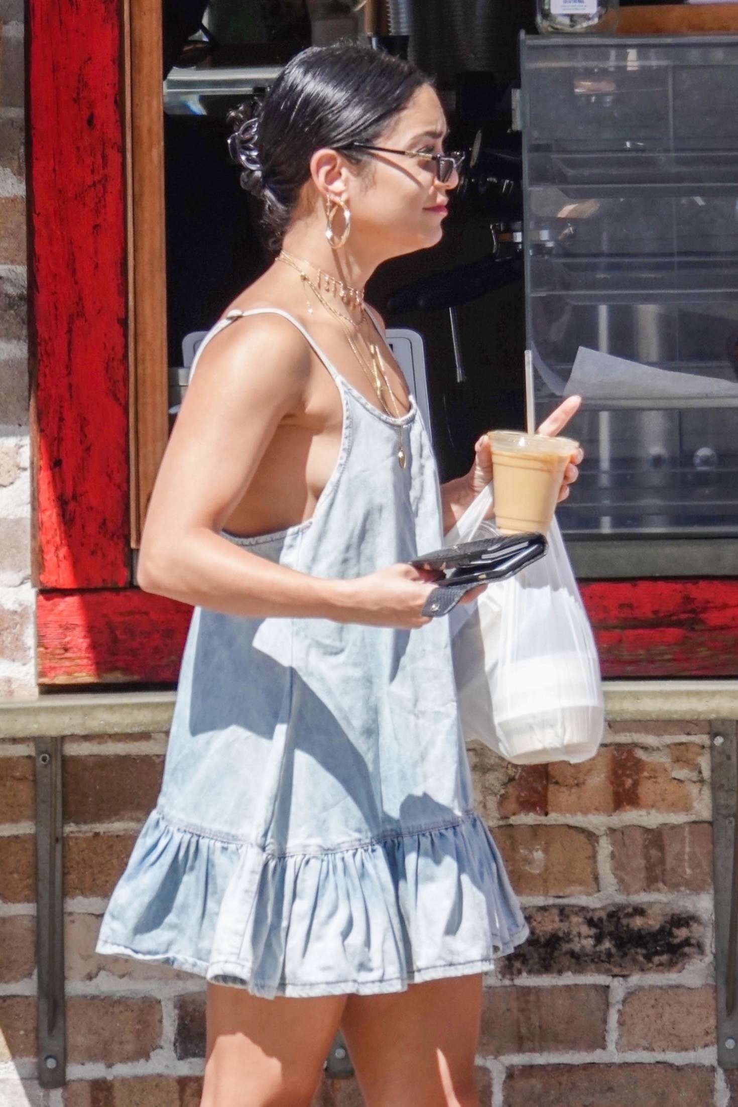 Vanessa Hudgens in Mini Dress - Out in Los Angeles