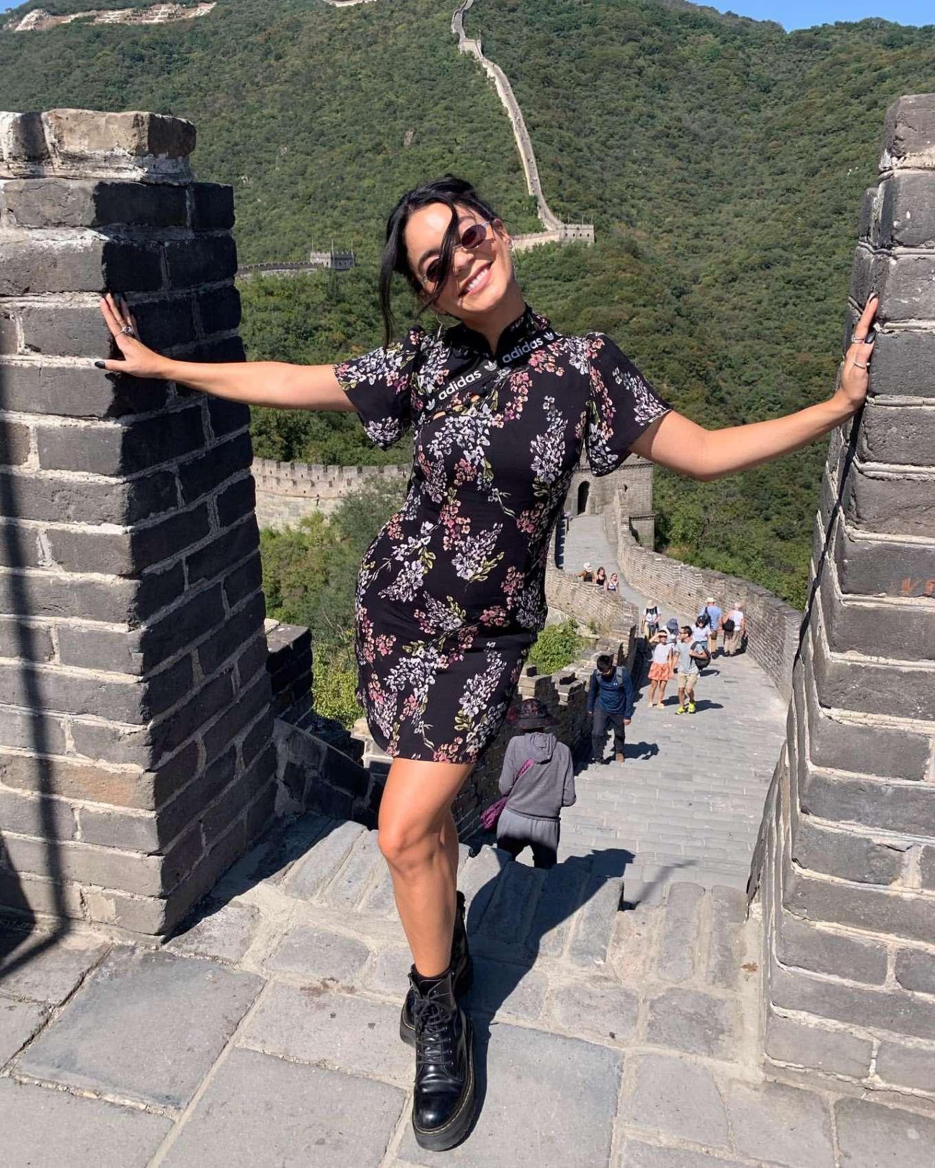 Vanessa Hudgens in Mini Dress - Personal Pics