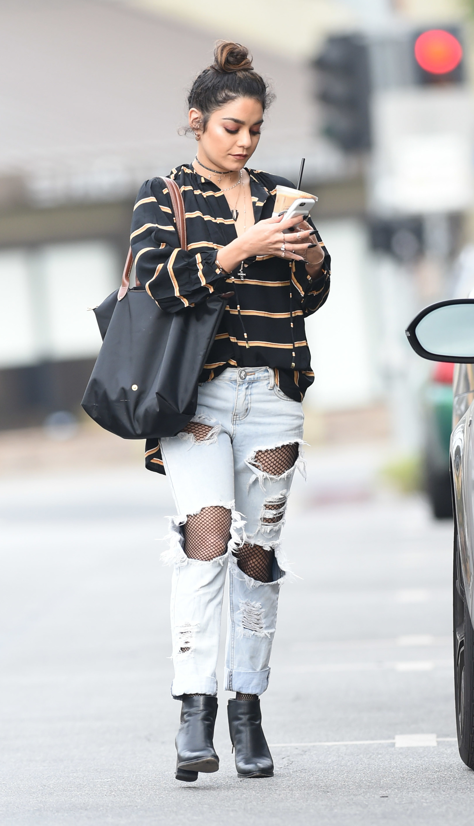 Vanessa Hudgens in Ripped Jeans out in LA