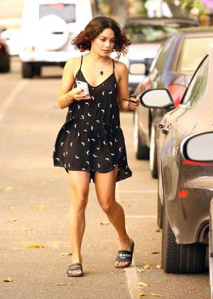 Vanessa Hudgens in Short Summer Dress Out in Los Angeles