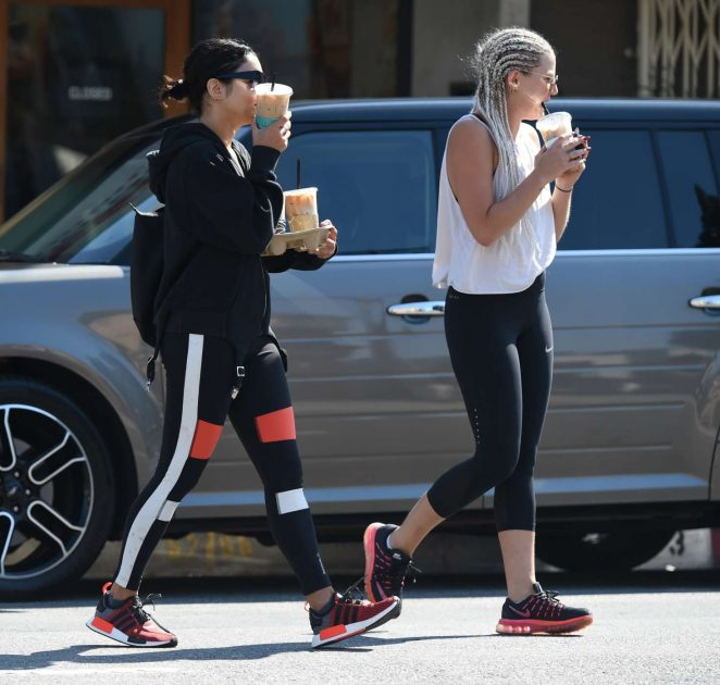 Vanessa Hudgens in Spandex heading to the gym -05