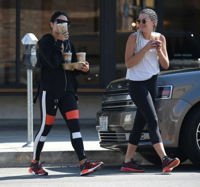 Vanessa Hudgens in Spandex heading to the gym -11