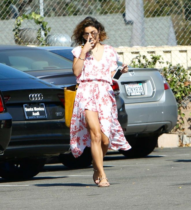 Vanessa Hudgens in Summer Dress Out in Los Angeles