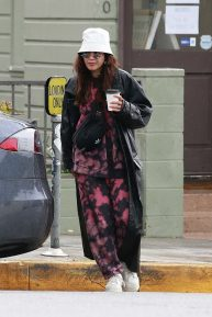 Vanessa Hudgens in the Rain in Los Angeles