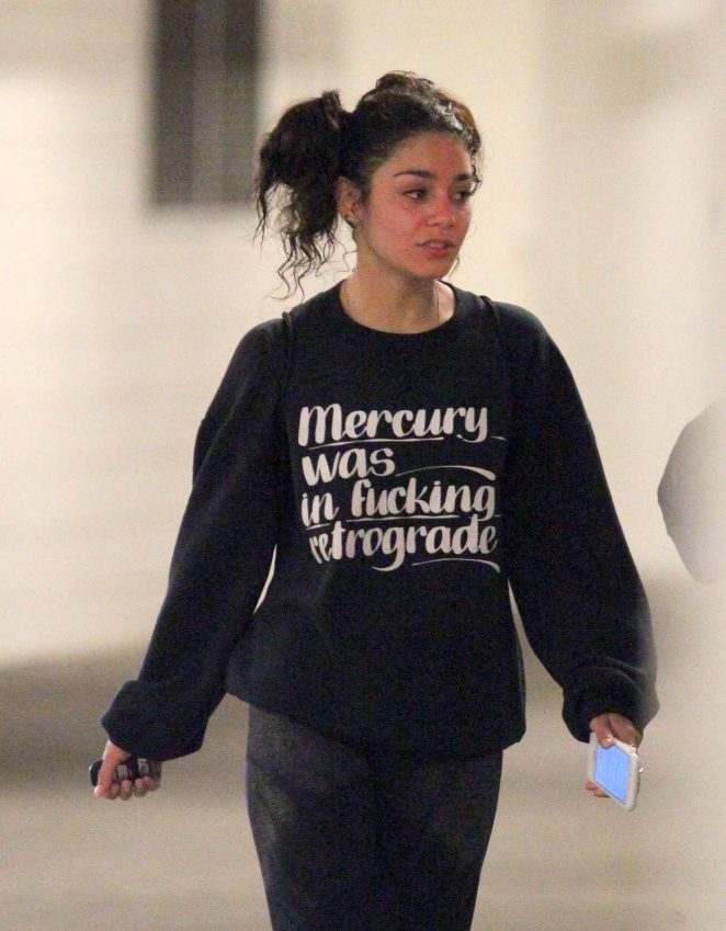 Vanessa Hudgens in Tights at the gym in Studio City